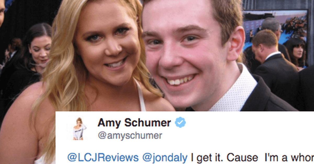 amy schumer responds to jackson murphy 2016 images