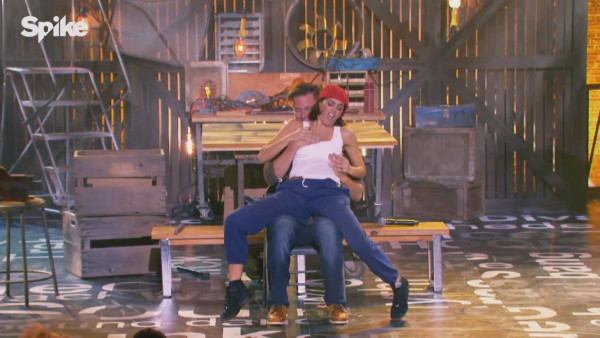 channing tatum wife does pony for him on lip sync battle 2016 images