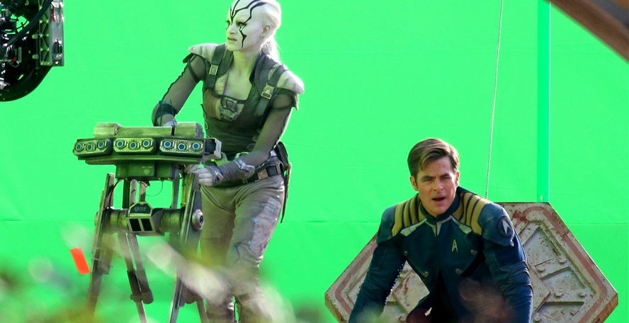 chris pine greenscreen on star trek beyond 2016 iamges