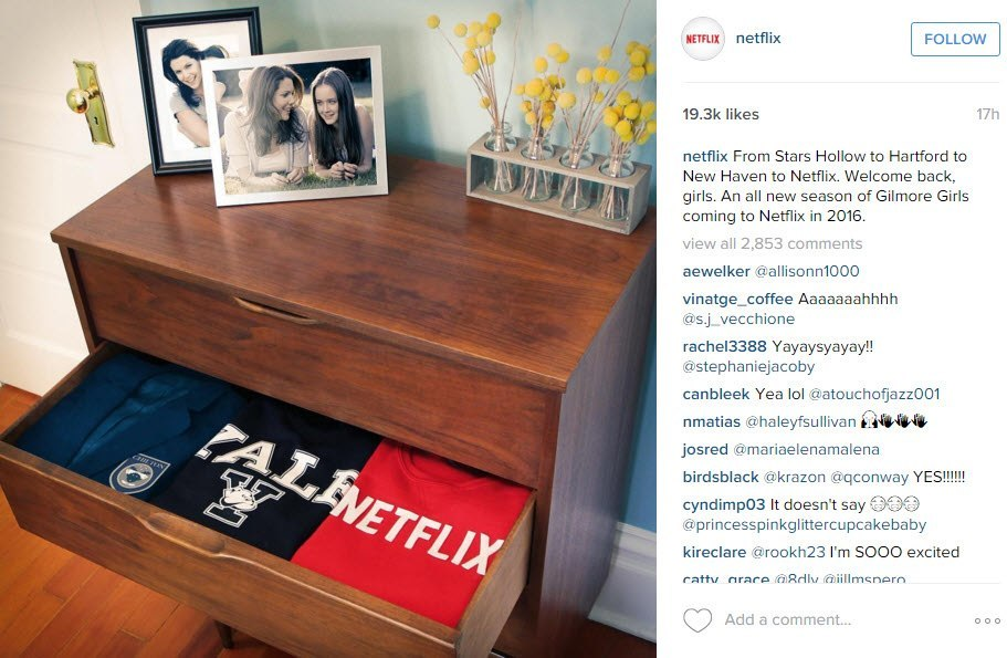 gilmore girls back for netflix remake 2016 gossip