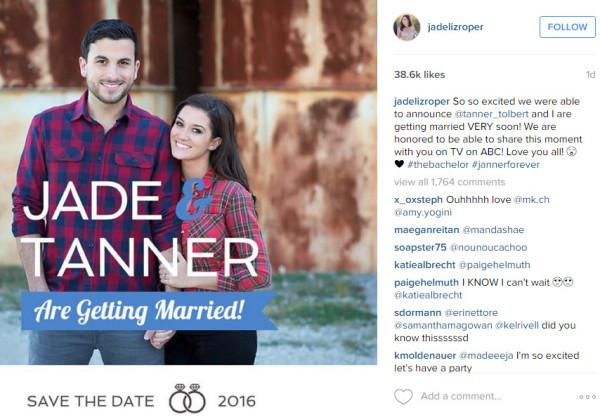 jade roper and tanner tolbert marriage 2016 gossip
