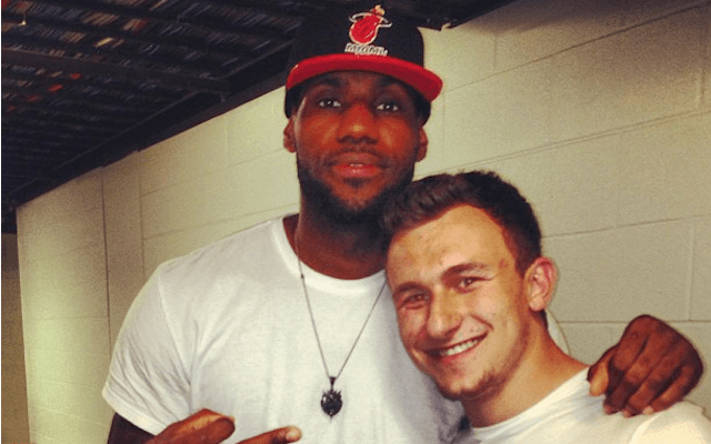 johnny manziel loses lebron james 20165 images