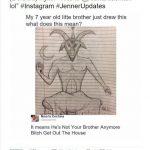 kylie jenner rob kardashian is satan drawing 2016 images
