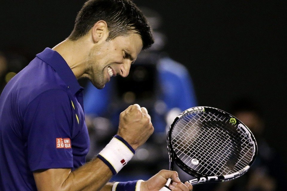 novak djokovic wins 2016 australian open beating andy murray images