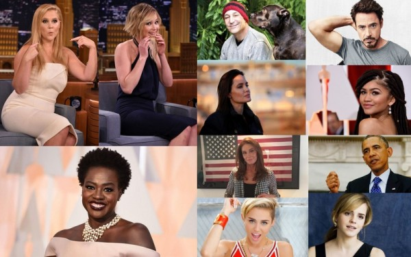 Top 10 Most Inspirational Celebrities of 2015 image collage