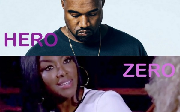 Heroes & Zeros Kanye West & Kenya Moore 2016 images