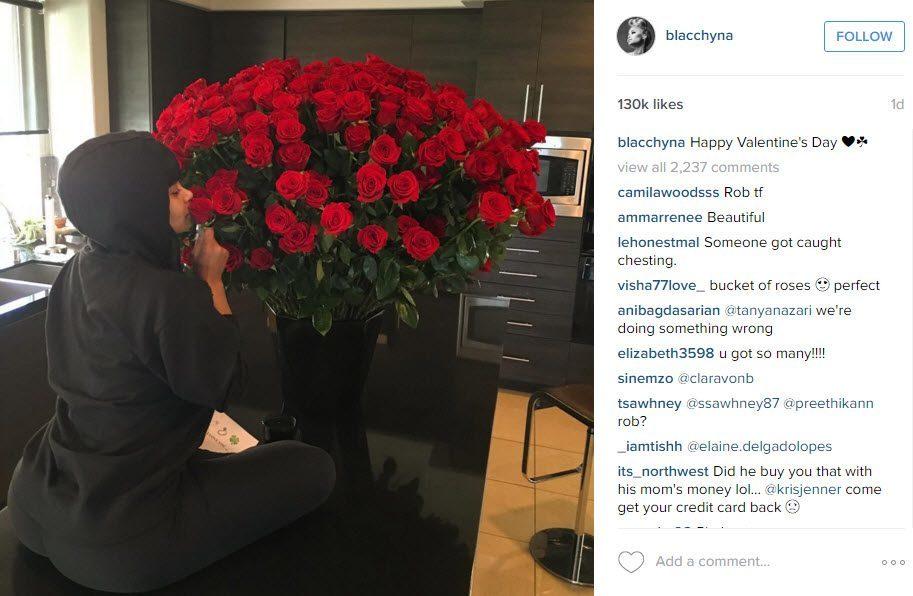 blac chyna valentines day rob kardashian 2016
