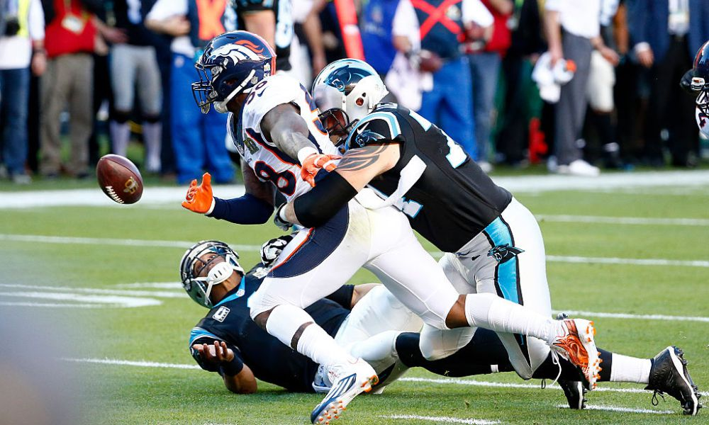 cam newton sacked super bowl 50
