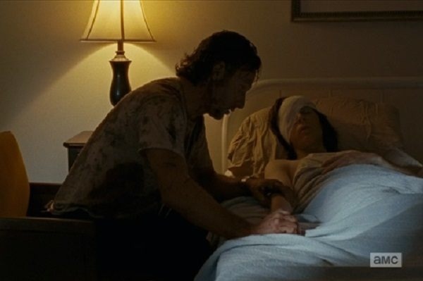 carl bedside walking dead