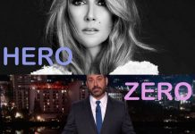 heroes & zeroes celine dion 2016 images jimmy kimmel