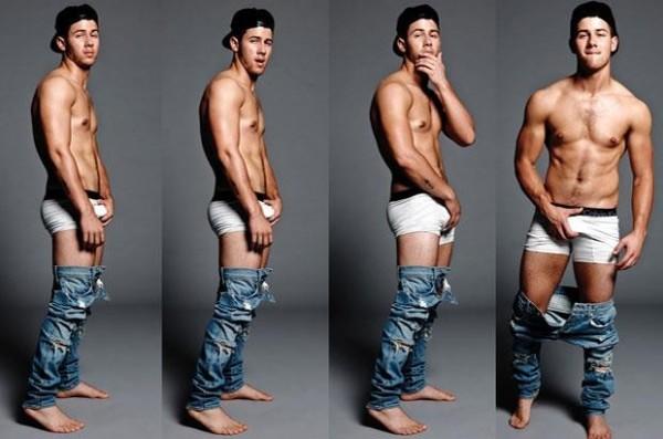 nick jonas marky mark homage underwear