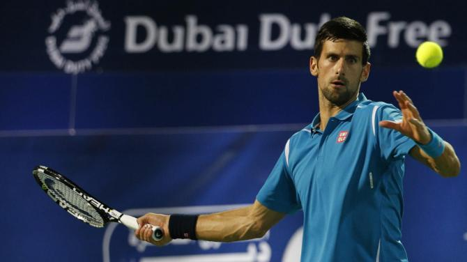 novak djokovic eye issue ousts him from atp dubai 2016 images