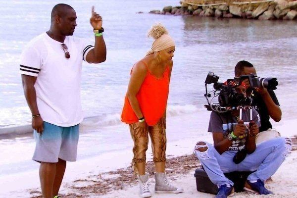 real housewives of atlanta jamaican mercial shoot kim fields 2016 images