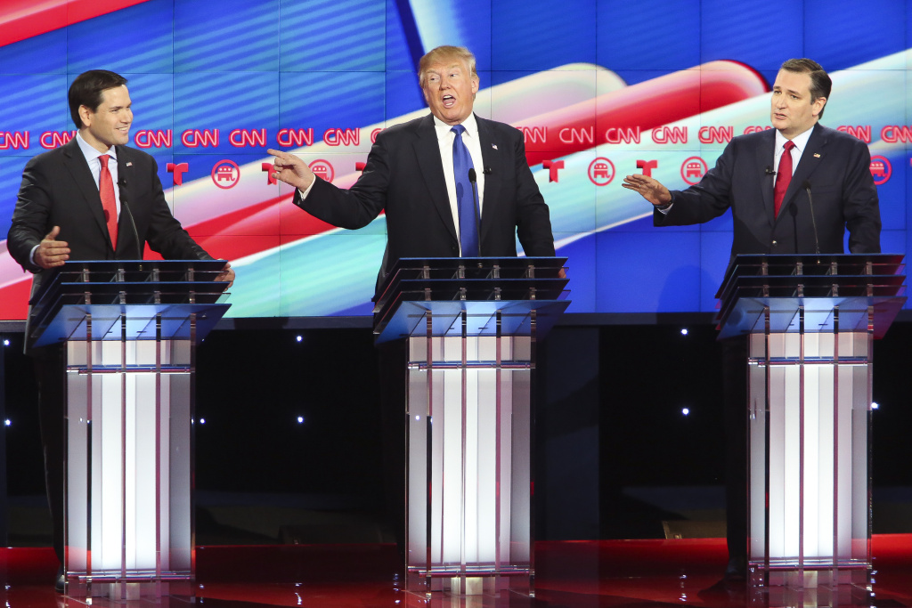 republicans fight it out for super tuesday 2016 images
