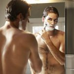 roger federer shaving shirtless 2016