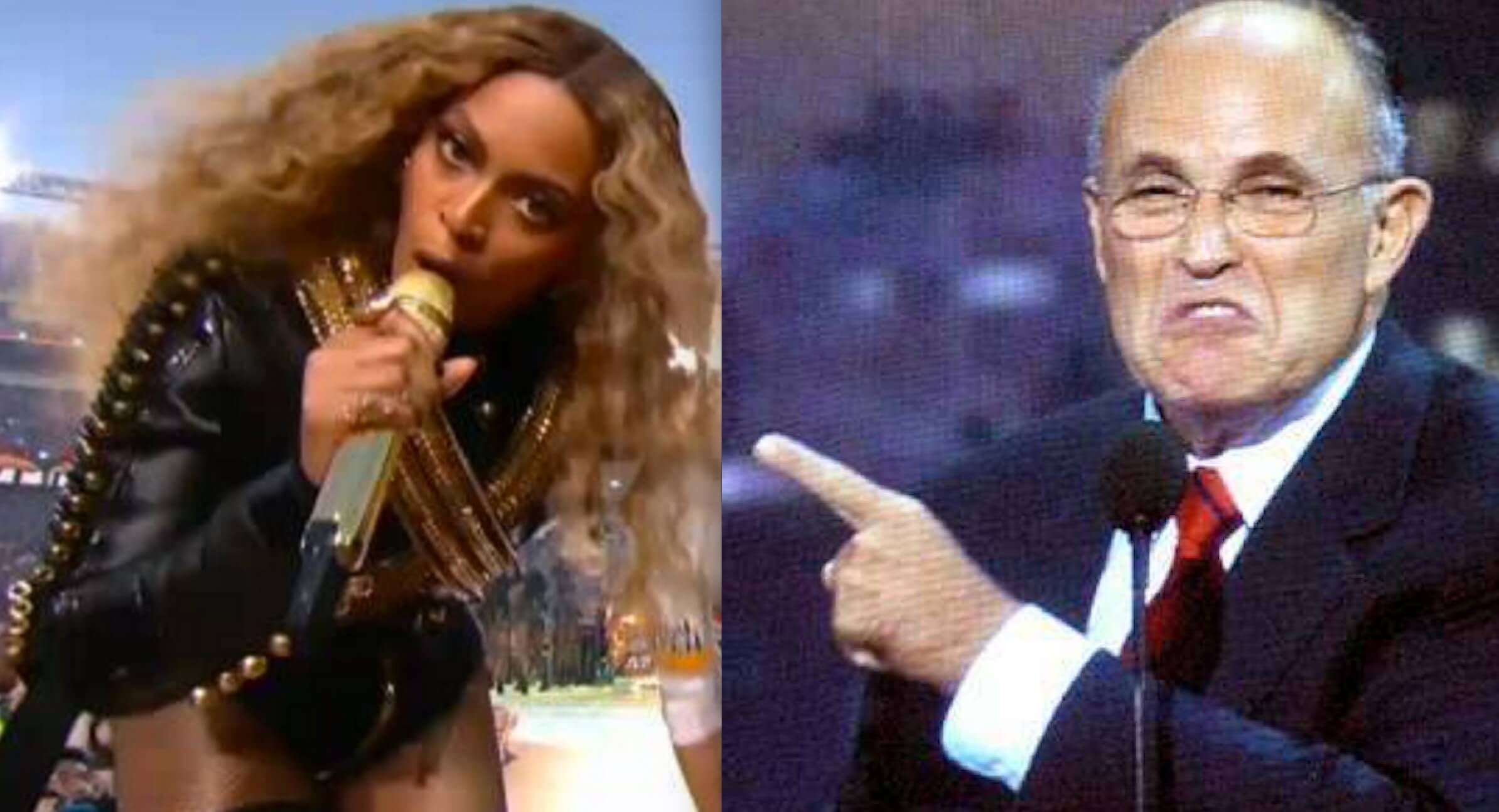 rudy giuliani not hot on beyonces black power 2016 gossip