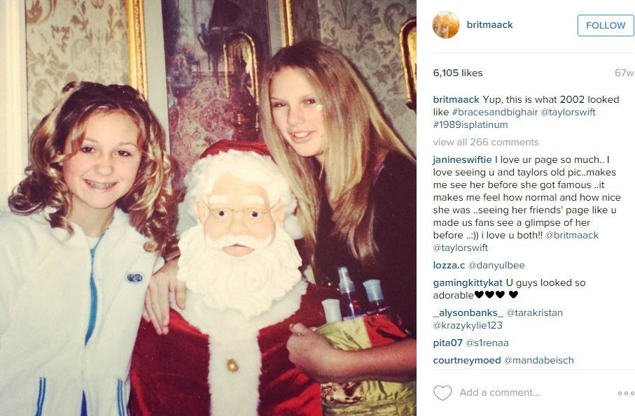taylor swift with santa claus 2016