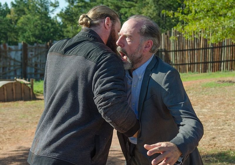 the walking dead 611 knots untie gregory stabbed by ethan 2016 images