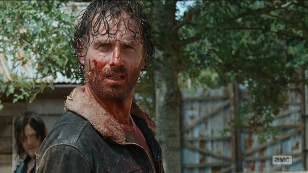 the walking dead knots untie rick grimes bloody what