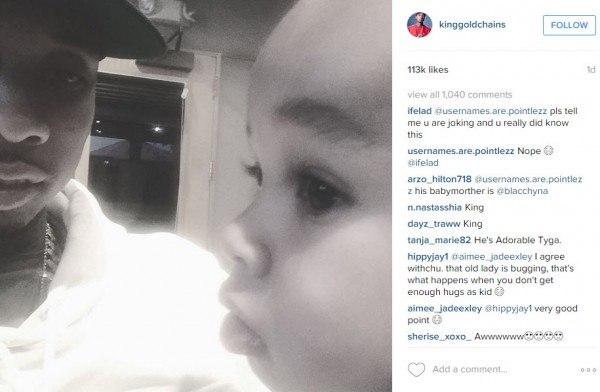 tyga with king cairo blac chyna 2016 gossip