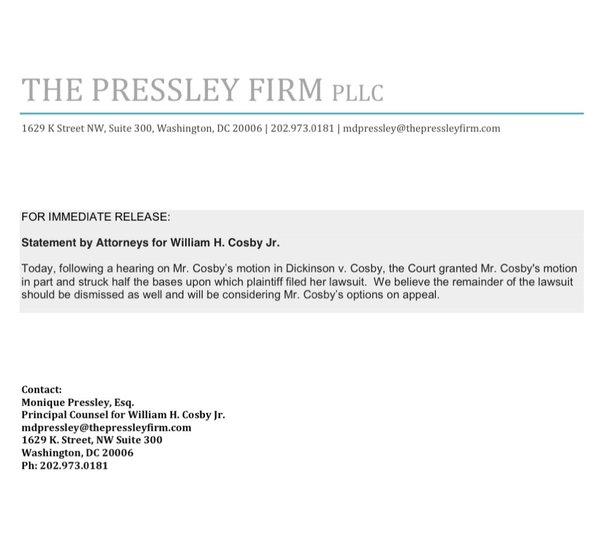 janice dickinson press release