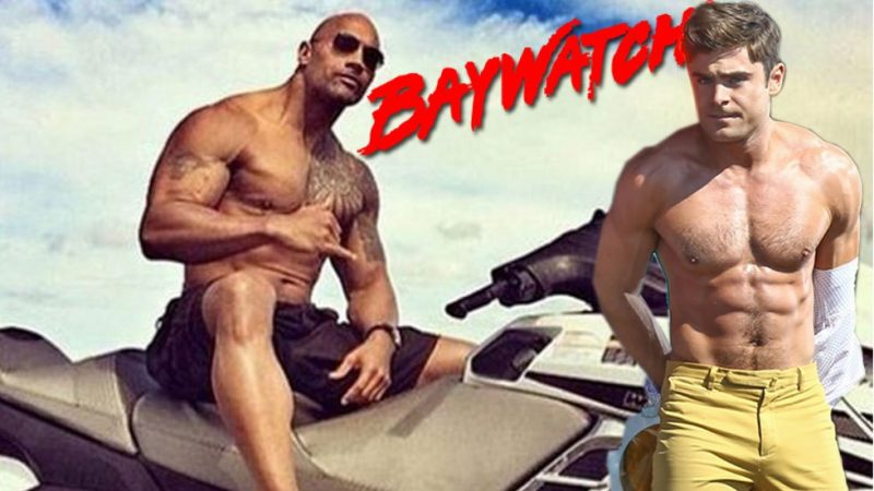 dawyne johnson zac efron welcome david hasselhoff to baywatch 2016 gossip