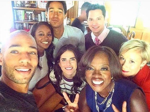 how to get away with murder cast selfie 2016