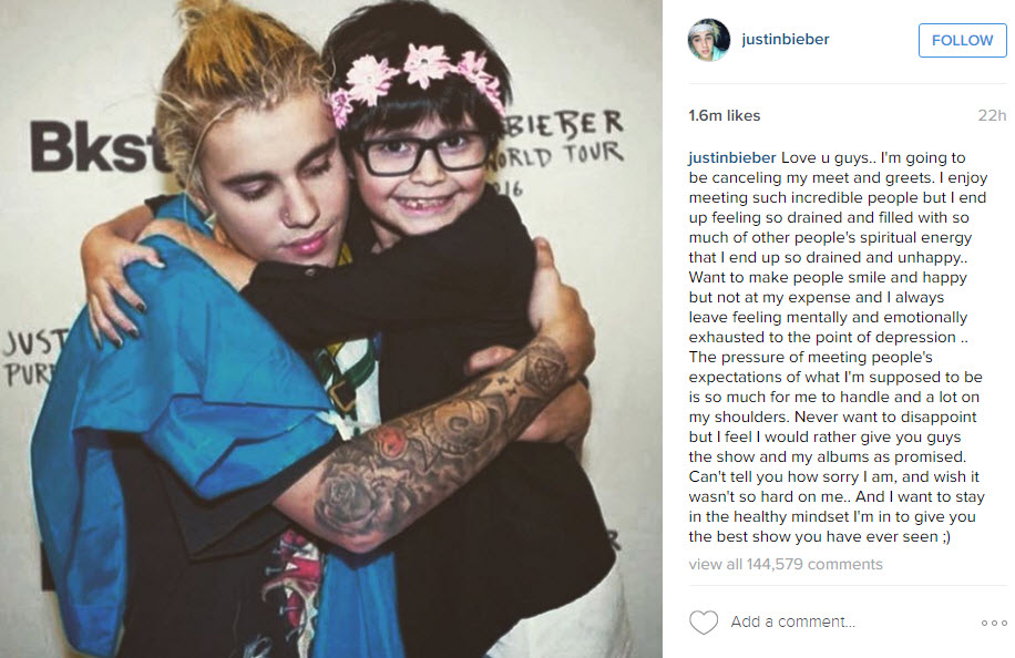 justin bieber with young fan 2016 gossip