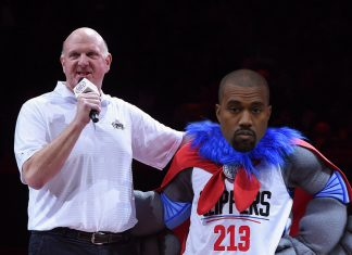 kanye west invited for los angeles clippers mascot 2016 images