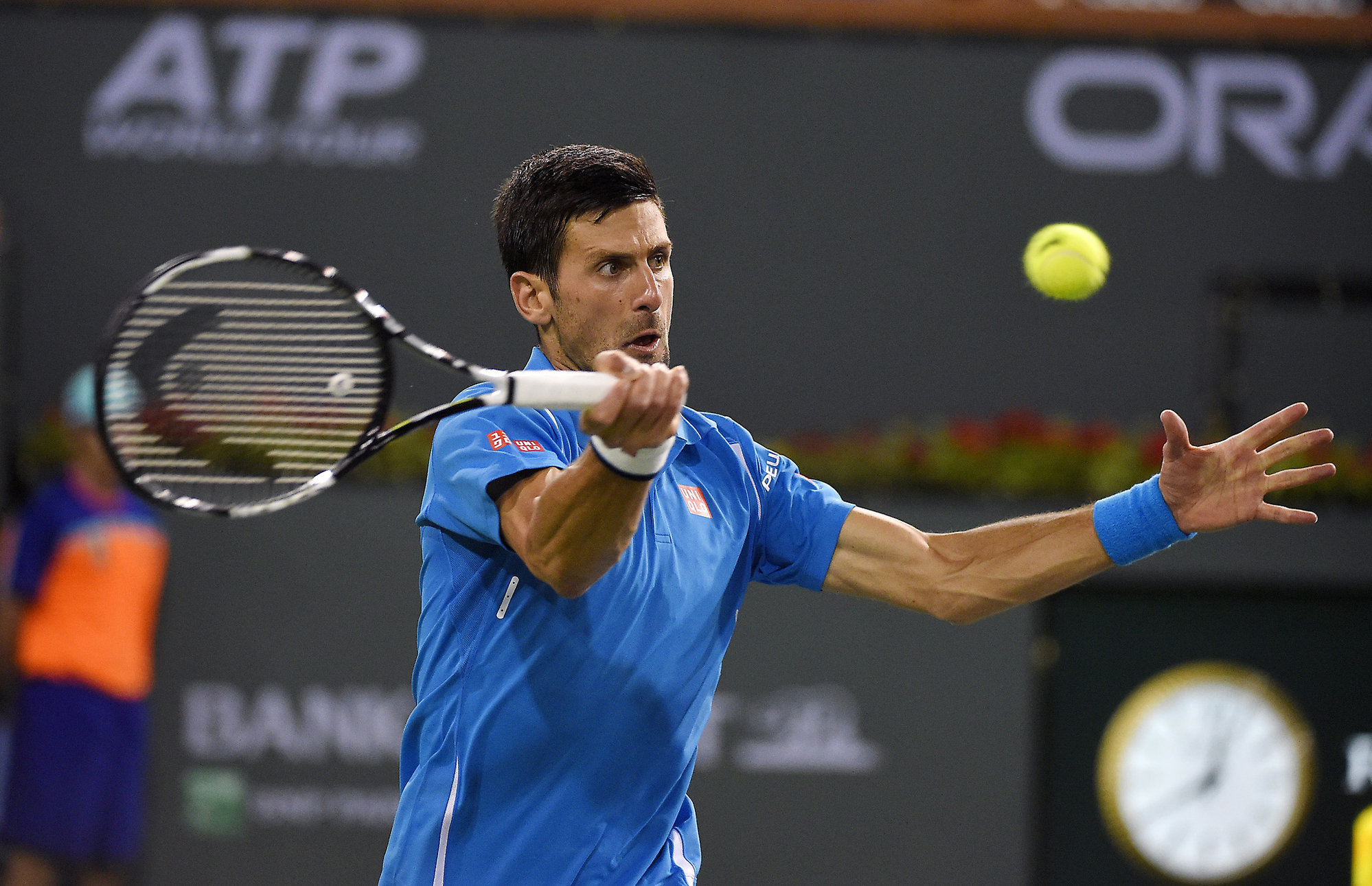 novak djokovic holding strong with 2016 indian wells quarterfinls set 2016 images