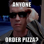 terminator arnold for pizza 2016