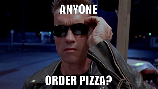 terminator arnold for pizza 2016