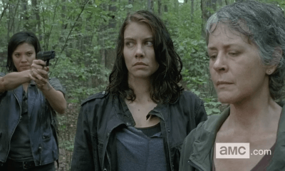 the walking dead 612 maggie carol at gunpoint 2016 images