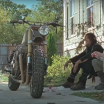 the walking dead daryl and carol with bike