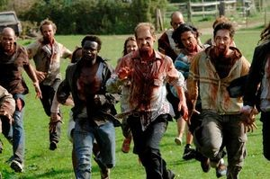 zombies running hard for the walking dead cell movie 2016