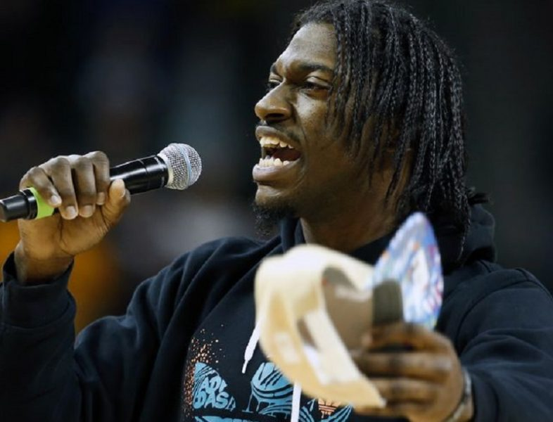 Robert Griffin III can't avoid micphones 2016 images