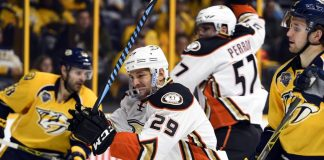anaheim ducks come for the win vs nashville predators 5-2 2016 images