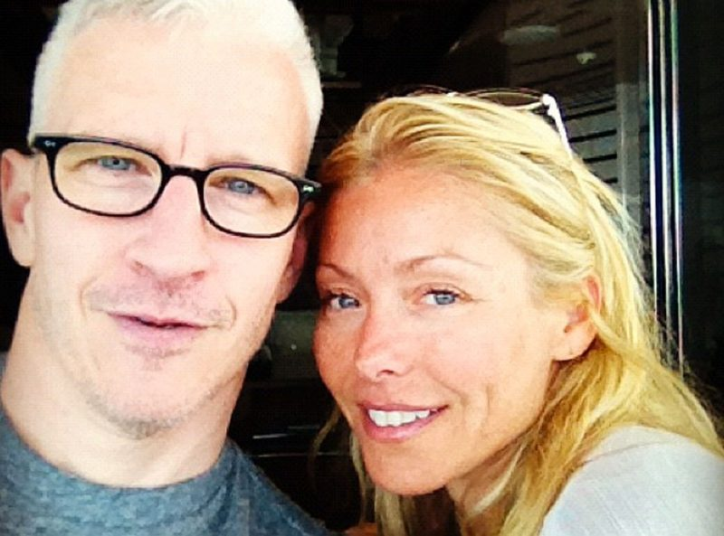 anderson coopers name already up for michael strahan replacement with kelly ripa 2016 images