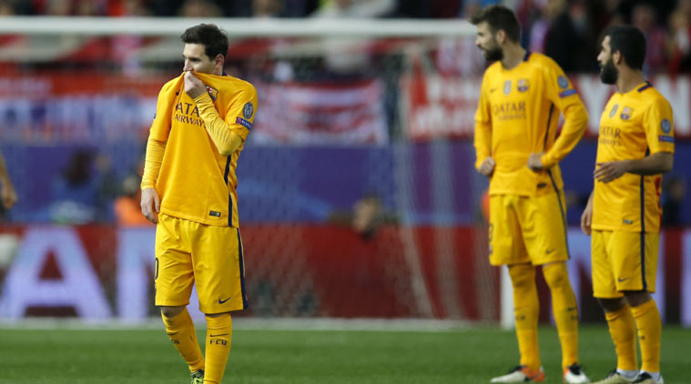 two european giants barcelona and psg knocked out of the champions league 2016 images