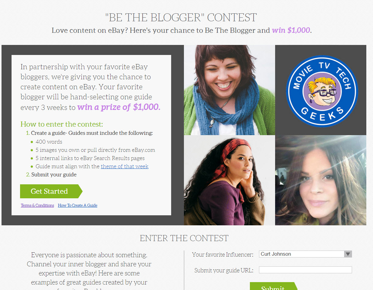 be the blogger mttg landing page
