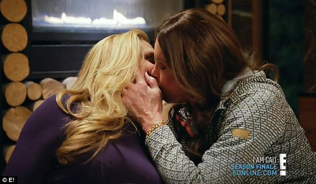 caitlyn jenner kisses candis cayne 2016