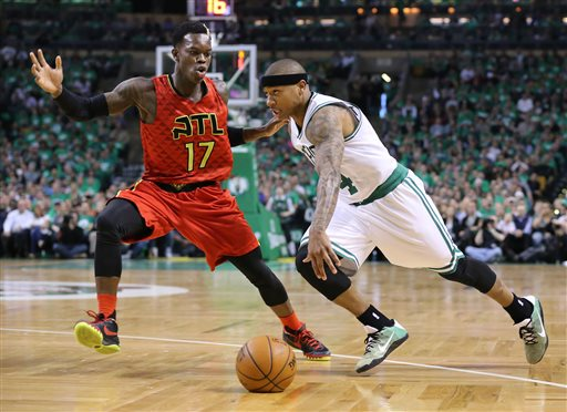 celtics tie things up for hawks