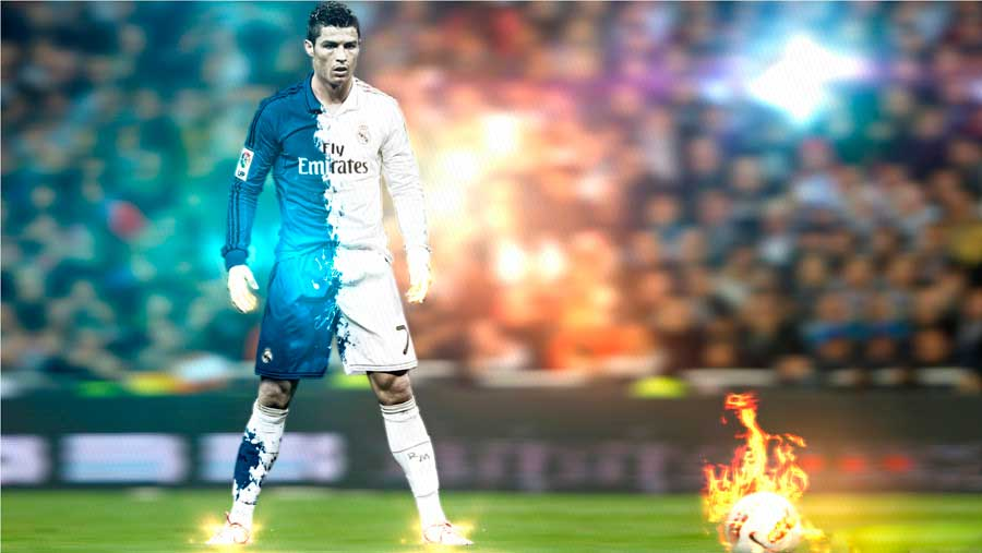 cristiano ronaldo striker hot