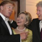 donald trump hanging with hillary clinton and bill 2016