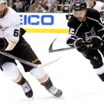 Los Angeles Kings vs Anaheim Ducks for NHL Pacific Division face off