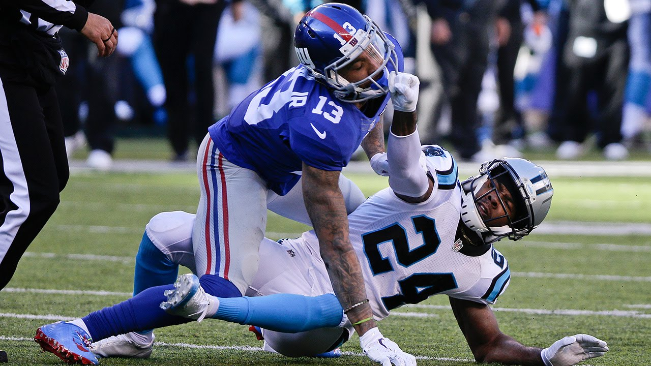 eli manning odell beckham jr learned lesson with josh norman 2016 images