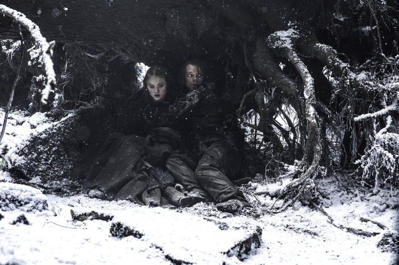 game of thrones 601 hiding in snow