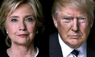 hillary clinton and donald trump leading new york primary 2016 images