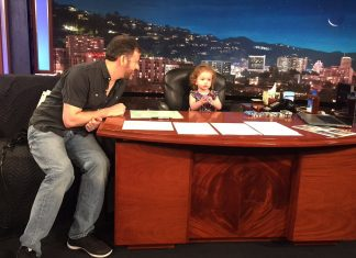 jimmy kimmels daughter makes tv history 2016 gossip