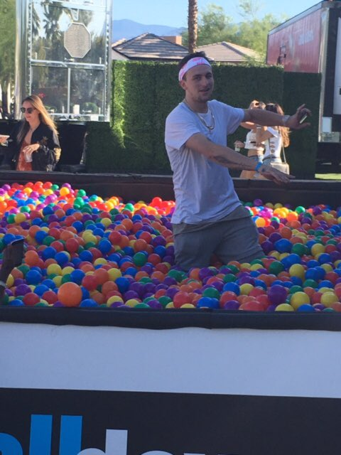 johnny manziel ball pit